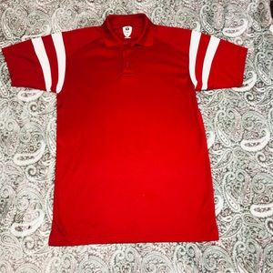 Badger Sport Red Collared Shirt
